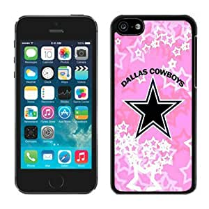 Beautiful Designed Case With Dallas Cowboys Black For iPhone 5C Phone Case