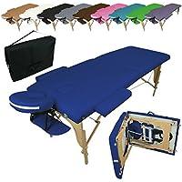 Vivezen ® Table de massage pliante 2 zones en bois avec panneau Reiki + Accessoires et housse de transport - 10 coloris - Norme CE