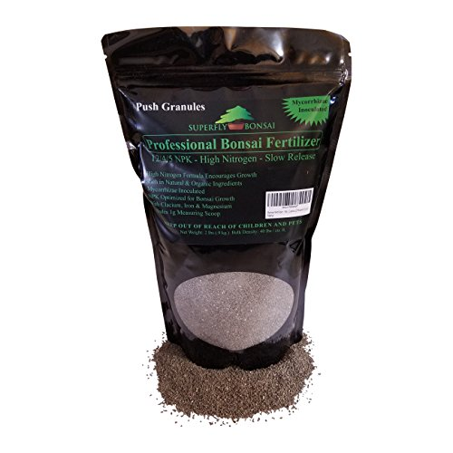 Bonsai Fertilizer - Slow Release - with Free 1g Scoop - Immediately fertilizes and Then fertilizes Over 1-2 Months - Good for House Plants and Cactus (2 Pound 12-4-5)