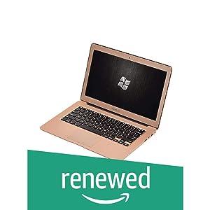 (Renewed) Reach Quanto RCN-025A Laptop (5th Generation Broadwell Intel Core i5-5200u Processor/8GB DDR3L/SSD 240GB/13.3 inch/DOS) (Golden)