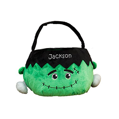 GiftsForYouNow Frankenstein Personalized Trick or Treat Bag
