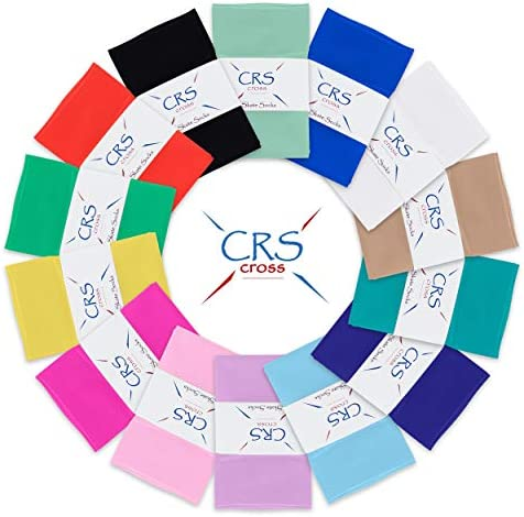 CRS Cross Figure Skating Socks (2 Pair) Knee High Tights for Ice Skates, Footed Skate Socks, Dance Tights