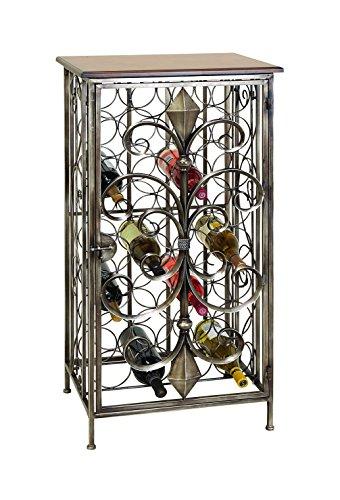 Benzara Uniquely Designed Metal Wine Holder