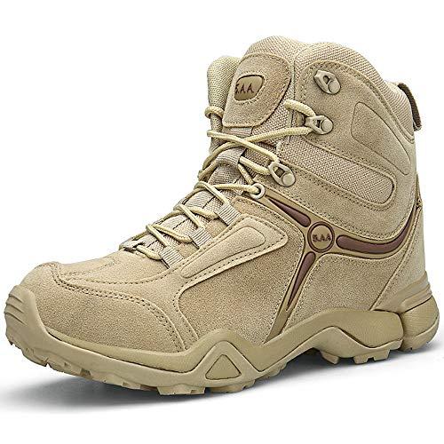 Damen Khaki XIAO Schuhe Combat Wanderschuhe Herren Rutschfeste für Boots Sommor Outdoor LONG Trekkingschuhe Stiefel Winterstiefel Bundeswehr nYZ4qn