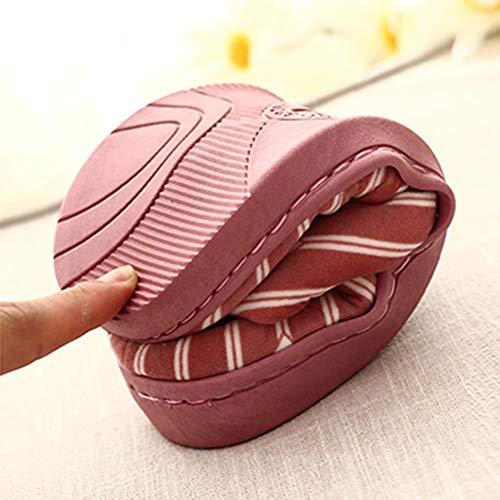 Invierno Mujer Wine Cálido Casa Dibujos De Zapatos Gato Para Señoras Bazhahei zapatillas Piso Calientes 1 Zapatillas Algodón Animados Interiores Antideslizantes Pareja E41qWBg