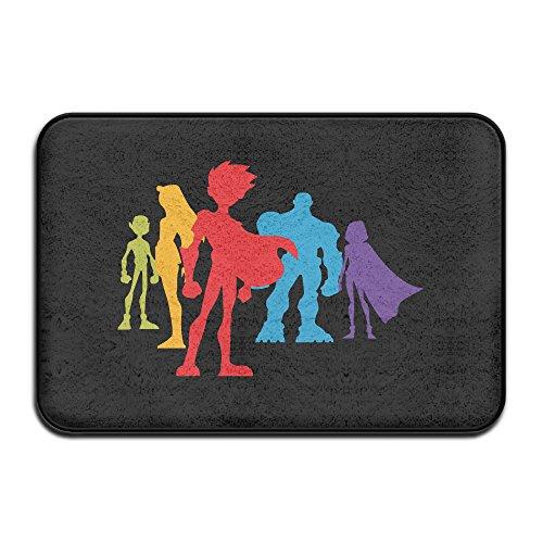 ForestInsect Teen Titans Go Logo Indoor Outdoor Floor Mat Doormats ()