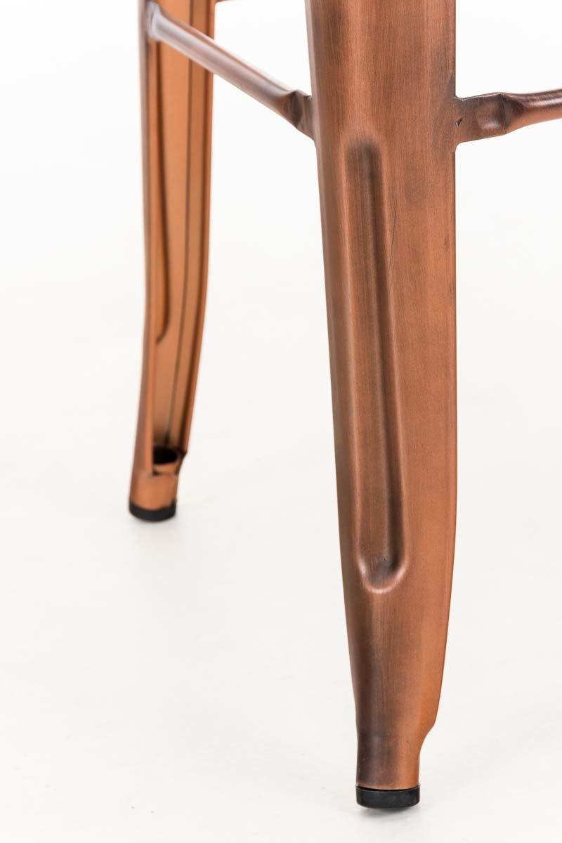 CLP Metall-Barhocker Joshua mit Fu/ßst/ütze I Stapelbarer Tresenhocker mit Einer Sitzh/öhe von 77 cm I erh/ältlich Gold