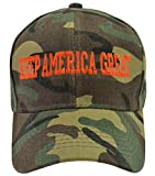 Incrediblegifts Donald Trump Keep America Great Camo Hat Orange Embroidered,One Size