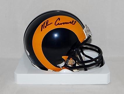 Amazon.com  Nolan Cromwell Autographed Mini Helmet - TB Witnessed ... b251950c7