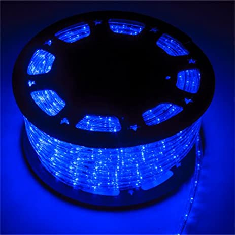 Amazon 5a parts blue led rope lights strips 150 feet 45m 5a parts blue led rope lights strips 150 feet 45m christmas holiday decoration lighting indoor aloadofball Images