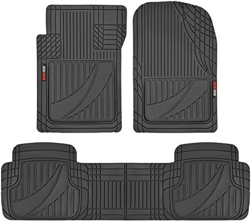 BDK FlexTough Contour Liners – Deep Dish Heavy Duty Rubber Floor Mats for Car SUV Truck & Van – All Weather Protection – Odorless (FlexTough AP)