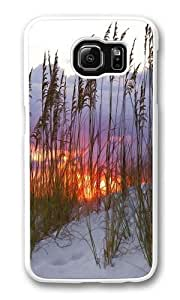 beach sunsets PC Case Cover for Samsung S6 and Samsung Galaxy S6 White Kimberly Kurzendoerfer