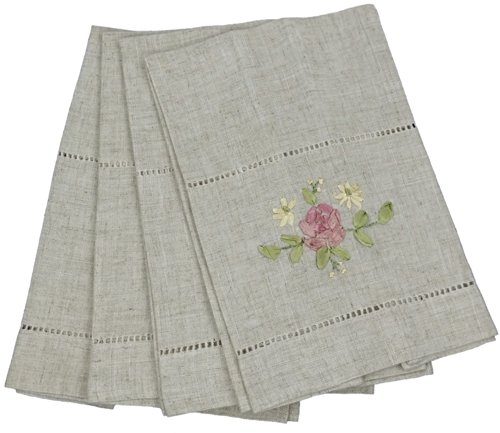 Xia Home Fashions Embroidered Hemstitch