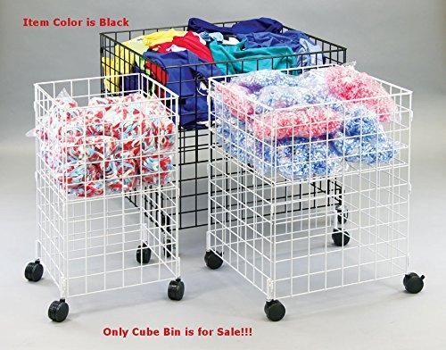 Retails Black Medium Size Mobile Dump Cube Bin 25.25''Sq. x 33.5''H by Dump Cube Bin