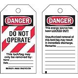 Brady 65520, Heavy Duty Polyester Lockout Tag, (2 Packs of 25 pcs)