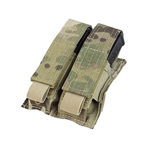 Condor MA23-008 Double Pistol Mag Pouch (Multicam) (Pistol Mags Airsoft)