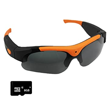 Vídeo Cámara Gafas de sol+Tarjeta SD de 8GB, Zimingu HD 1080P 5MP Grabación Gafas Videocámara gafas DVR Videocámara de Para Conducir Deportes al Aire ...