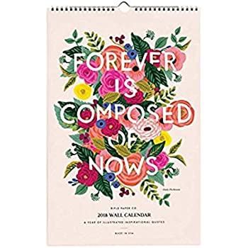 Rifle Paper 2018 Inspirational Quotes Calendar