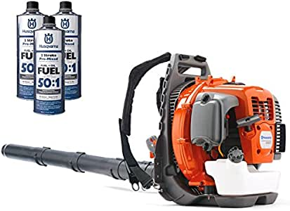 Husqvarna 560BTS 65cc Backpack Gas Leaf Blower with 3 Quarts of Fuel