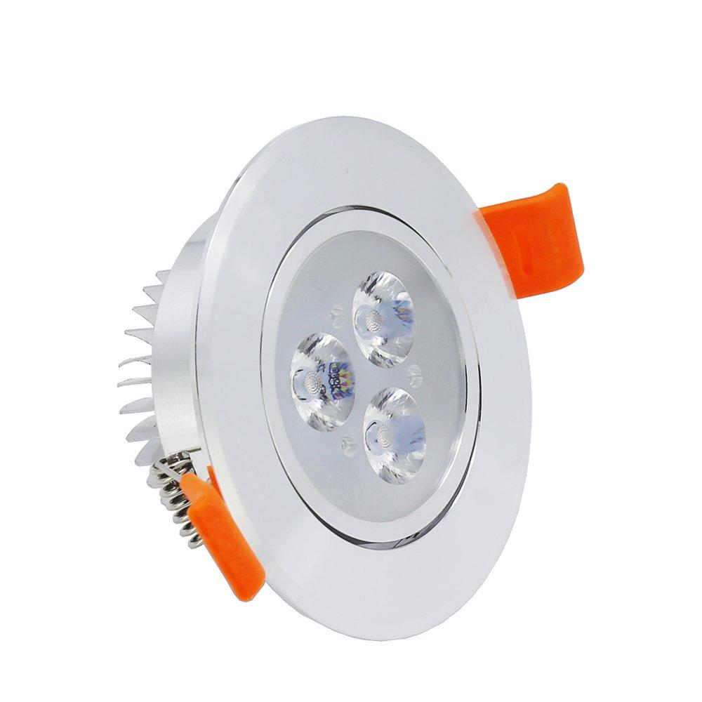 Hengda® 6 pcs Einbaustrahler 3W LED Kaltweiß Deckenstrahler Spot ...
