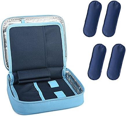 DCCN Bolsa diabético isotérmica para mantener insulina (Azul 02): Amazon.es: Salud y cuidado personal