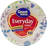 Great Value Everyday Premium Paper Plates, 8 5/8'', 100 Count