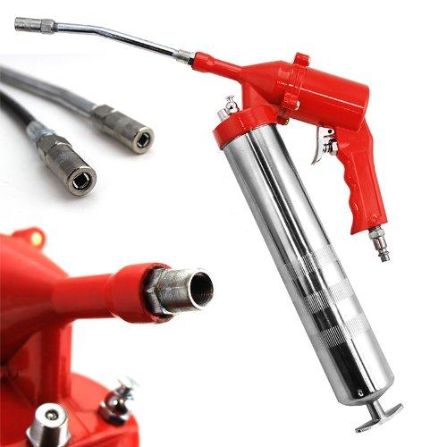 XtremepowerUS 3 Way Flex Hose 1/4 NPT Air Grease Gun Automotive Tools Sealant Rigid Tube 3/8