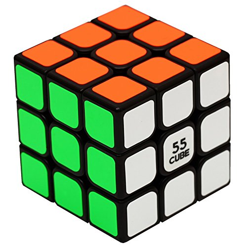 Rubiks Cube Original 3x3 Puzzle (55cube Speed Cube 3x3 Sticker Magic Cube Puzzle Cube Black By)