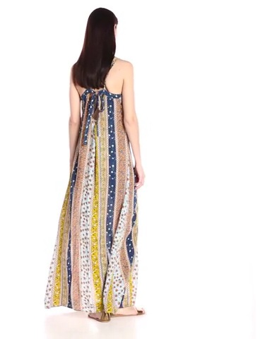 RD Style Womens Printed Maxi Dress with Slit
