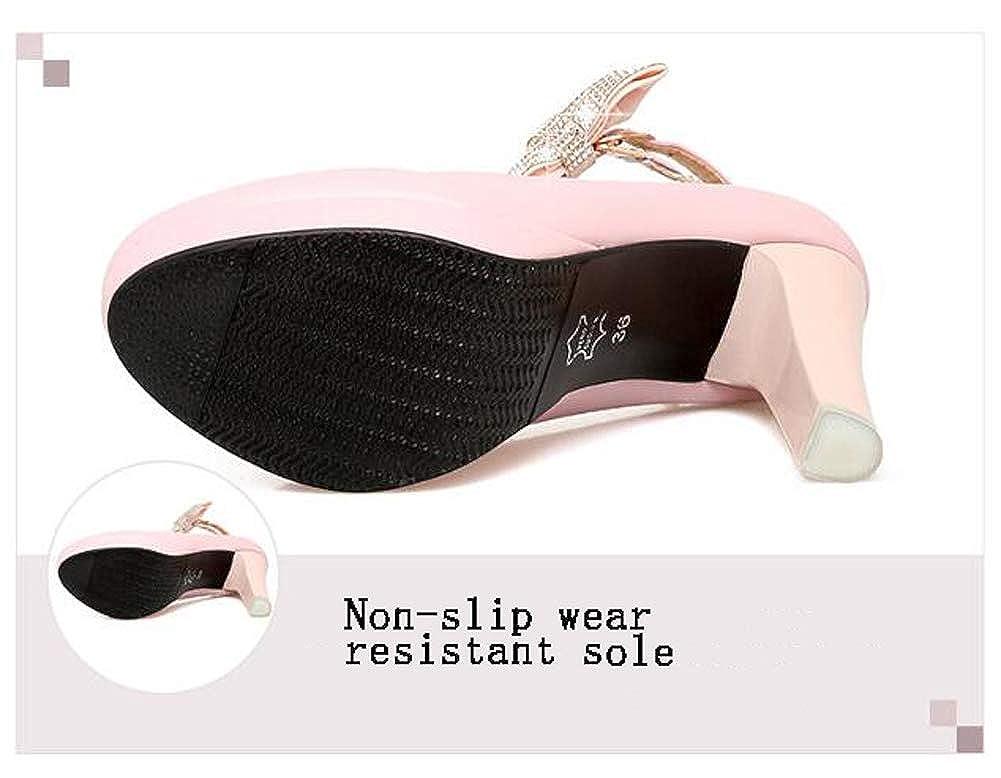 HLG Frauen knöchelriemen plattform plattform plattform pumpe quadratische heels schuhe ein wort schnalle partykleid hochzeitsschuhe 58a581