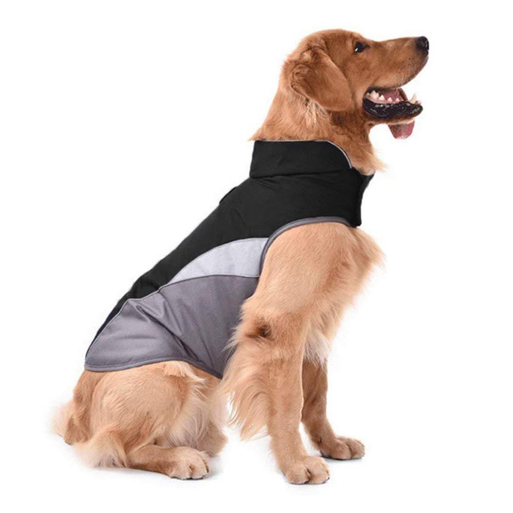 Black XXXL Black XXXL D-DUK Dog Winter Warm Jacket Dog Cold Weather Coat Dog Windproof Reflective Vest Dog Medium Large Warm Sport Vest Jackets (XXXL, Black)