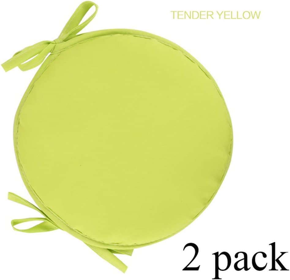 XFXDBT Round Dining Chair Chair Cushions 2 Pack,with Ties Universal Seat Pads Indoor Outdoor Cushions Garden Kitchen-beige 30x30cm 12x12in