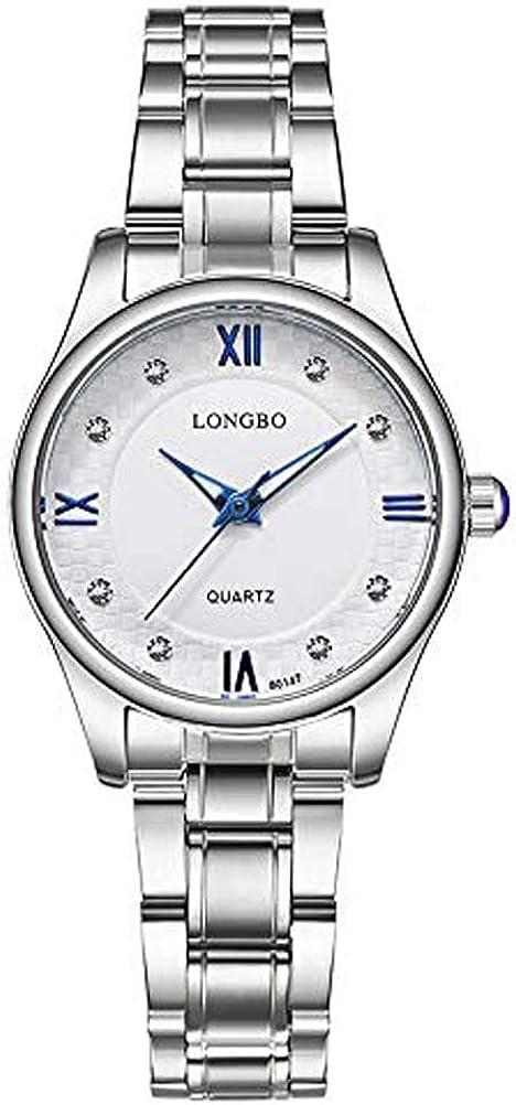 Hermosos Relojes de Moda longbo80147 señoras Reloj de Cuarzo Reloj de Acero Inoxidable