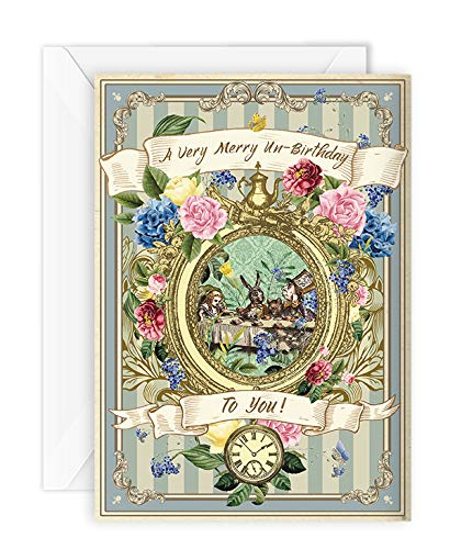 Vintage inspired Alice in Wonderland thank you cards  8 with envelopes