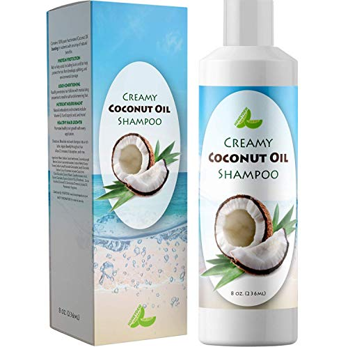 Natural Coconut Oil Shampoo for Hair Growth - Hair Regrowth Treatment for Men and Women - Best Sulfate Free Moisturizing Shampoo - Safe for Color Treated Hair - Nourishing Hair and Scalp Treatment