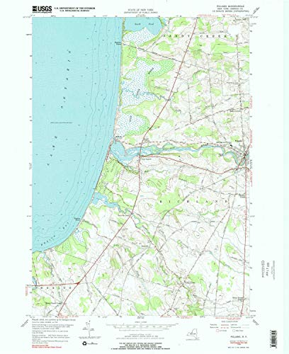 YellowMaps Pulaski NY topo map, 1:24000 Scale, 7.5 X 7.5 Minute, Historical, 1956, Updated 1990, 27 x 22 in - Paper