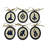 Nautical Laser Cut Silhouette Christmas Tree Ornaments (Captain's Collection) offers
