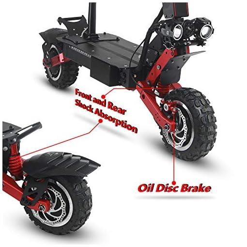 GUNAI 11 Pouces 5600W Double Motor Drive Hors Route Scooter électrique Adulte avec Absorption des Chocs Avant et Arrière et écran Multifonctions