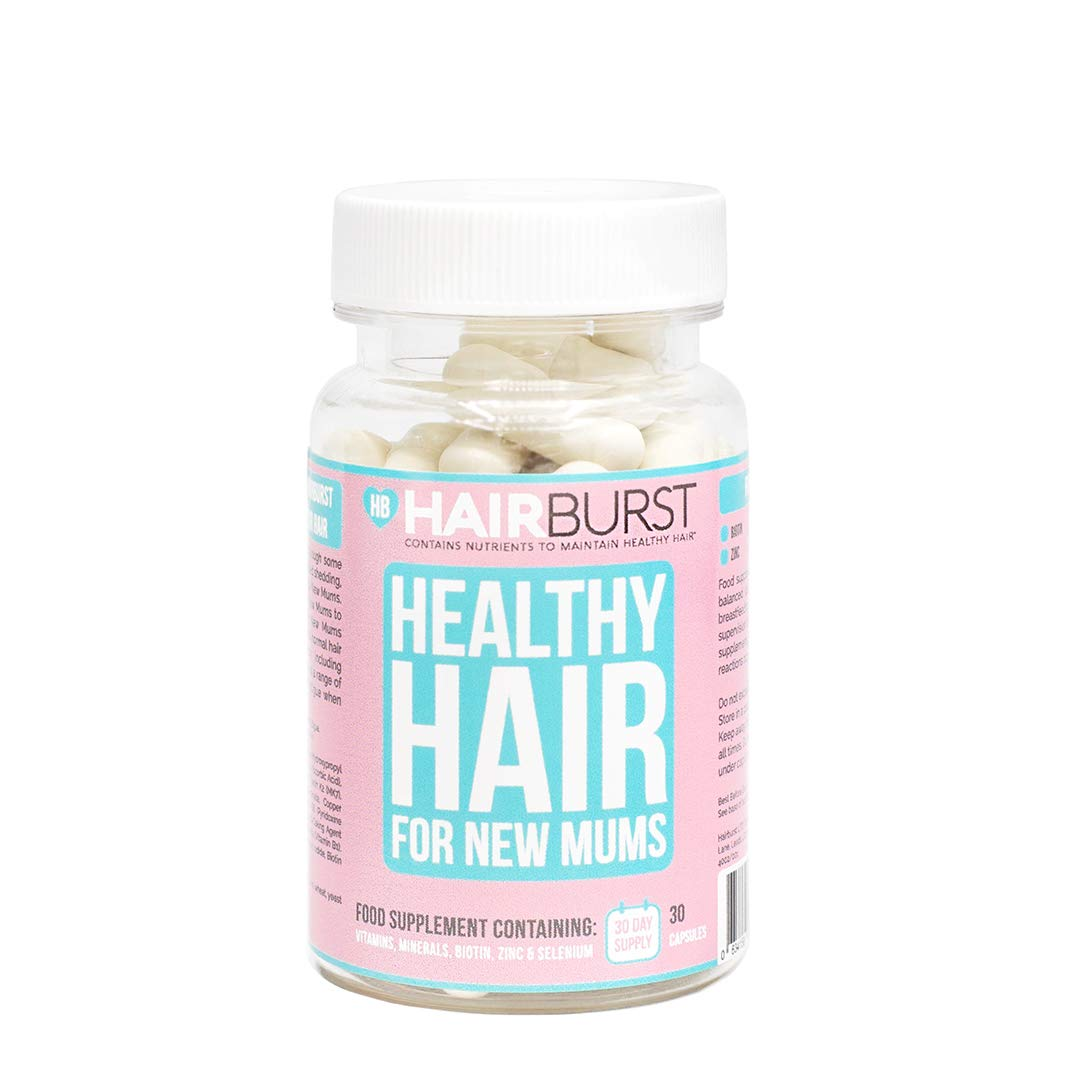 HAIRBURST Pregnancy Vitamins for Hair Growth - One Month Supply - 30 Capsules - Faster Hair Growth - Longer, Stronger Hair
