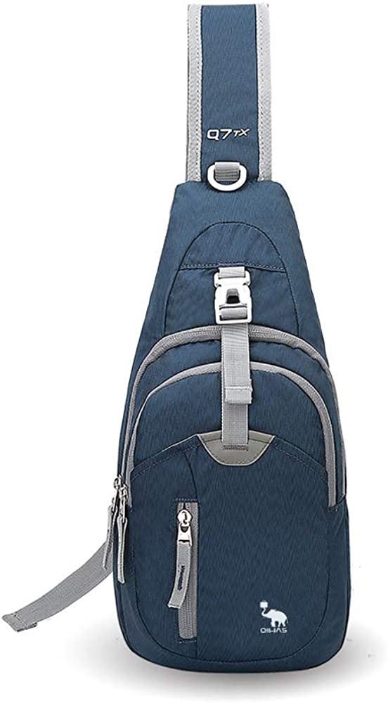 OIWAS Small Sling Backpack Lightweight One Strap Bag Hiking Crossbody Chest Pack Shoulder Bookbag Daypack For Men Women