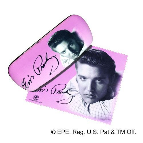 Elvis Presley Eyeglass Glasses Case & Lens Cloth