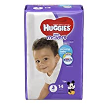 HUGGIES LITTLE MOVERS, Baby Diapers, Size 3, 14ct