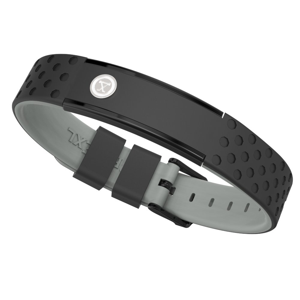 ProExl 9K Sports Golfers Magnetic Bracelet, Swim, Shower, Surf, Wear it Everyday (Black Gray)