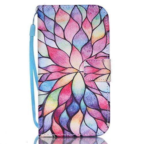 Price comparison product image UNEXTATI Galaxy S4 Mini,  Premium Wallet Case + Silicone Cover for Samsung Galaxy S4 Mini,  Leather Case with Wrist strap,  Card-Slot,  Kickstand,  Magnet Clip (Multicolor)