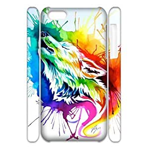 diy phone casePersonalized New Print Case for ipod touch 4 3D, Rainbow Wolf Phone Case - HL-R672034diy phone case