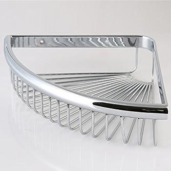 Corner Wire Shower Basket Shower Caddy Shower Soap Basket Holder Bathroom  Kitchen Triangle Shelf, Solid