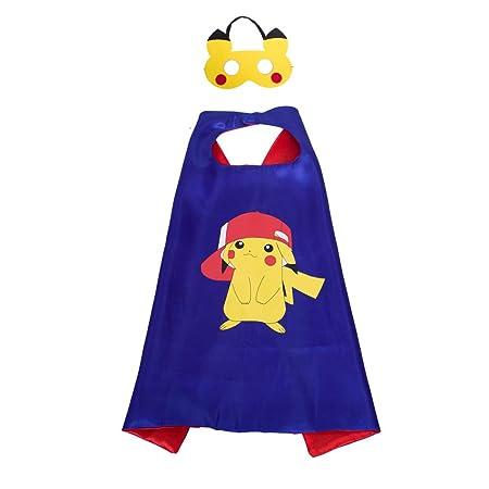 Pikachu del traje del cabo MÁSCARA para los regalos del ...
