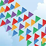250FT 150flags(10Ropes) Multicolor Wedding Bunting Triangle Flag Decoration Christmas Festival Party Supplies Married String Flags Decor