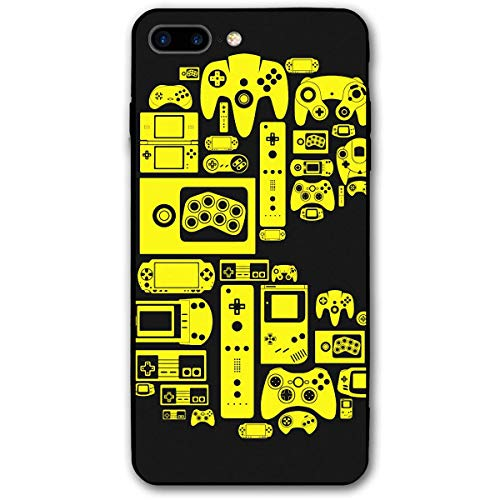 CHUFZSD Retro Video Game Themed iPhone 7/8 Plus Case Soft Flexible TPU Anti Scratch Shock-Proof Protective Shell Compatible Phone Case Cover (5.5 Inch) ()