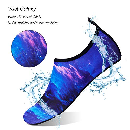 Water Shoes for Womens Mens Barefoot Quick-Dry Aqua Socks for Beach Swim Surf Yoga Exercise New Translucent Color Soles